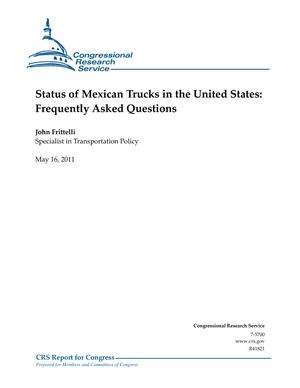 Status of Mexican Trucks in the United States: Frequently Asked Questions