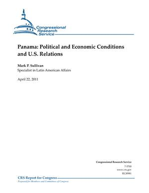Panama: Political and Economic Conditions and U.S. Relations
