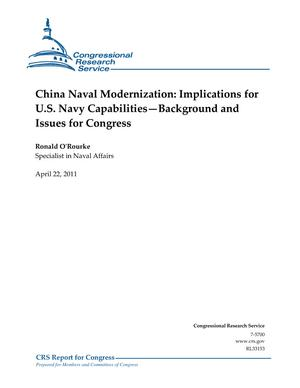 China Naval Modernization: Implications for U.S. Navy Capabilities-Background and Issues for Congress