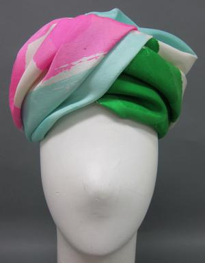 Primary view of object titled 'Turban hat'.