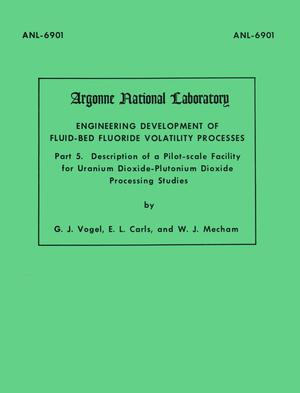 Engineering development of fluid-bed fluoride volatility processes