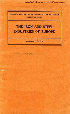 The iron and steel industries of Europe