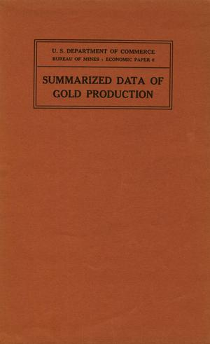 Summarized data of gold production