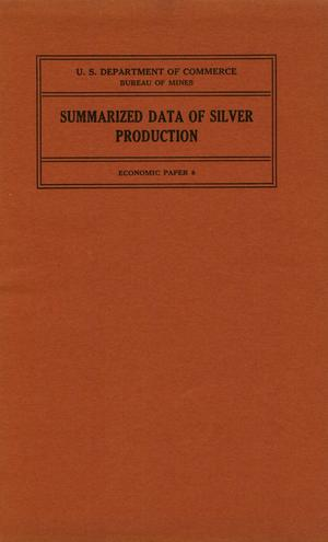 Summarized data of silver production