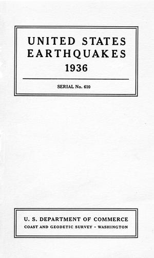 Primary view of object titled 'United States Earthquakes, 1936'.