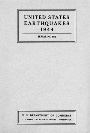 Primary view of object titled 'United States Earthquakes, 1944'.