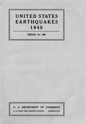 Primary view of object titled 'United States Earthquakes, 1945'.