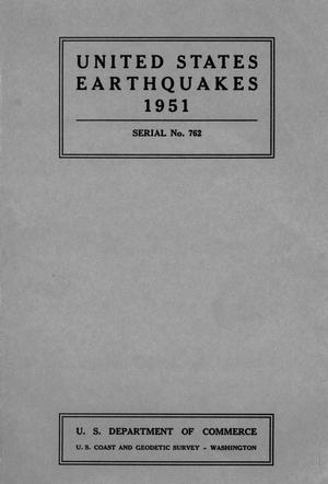 Primary view of object titled 'United States Earthquakes, 1951'.