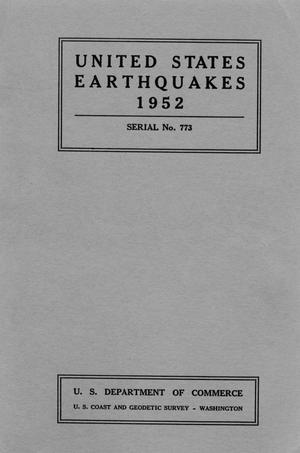 Primary view of object titled 'United States Earthquakes, 1952'.