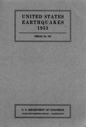 Primary view of object titled 'United States Earthquakes, 1953'.