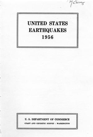 Primary view of object titled 'United States Earthquakes, 1956'.
