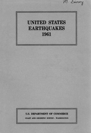 Primary view of object titled 'United States Earthquakes, 1961'.