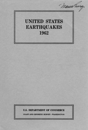 Primary view of object titled 'United States Earthquakes, 1962'.