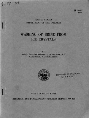 Primary view of object titled 'Washing of brine from ice crystals'.