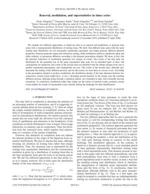Primary view of object titled 'Renewal, Modulation, and Superstatistics in Times Series'.