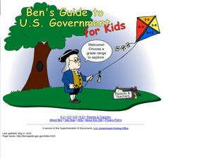 Primary view of object titled 'Ben's Guide to U.S. Government for Kids'.
