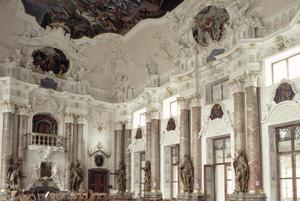 Primary view of Abbey Church of Ottobeuren, Imperial Hall of Statues of Hapsburg Emperors