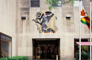 Primary view of object titled 'Rockefeller Center, RCA Building, Wall Relief, Progress'.