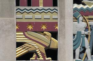 Primary view of object titled 'Rockefeller Center, RCA Building, Wall Relief detail'.