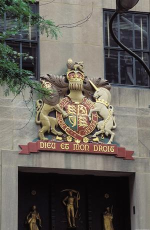 British Coat of Arms at Rockefeller Center, New York