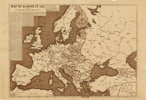 Map of Europe in 1921.