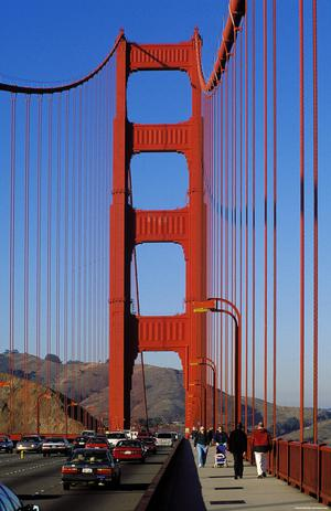 Primary view of object titled 'Golden Gate Bridge'.