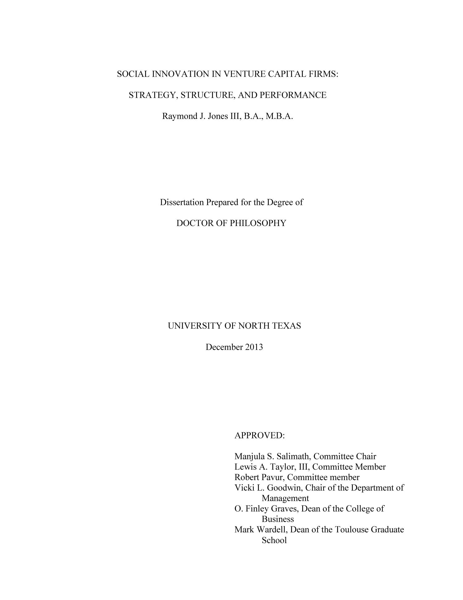Capital structure firm performance dissertation