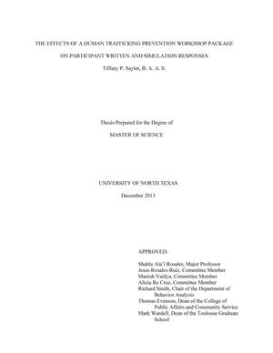 thesis for human trafficking