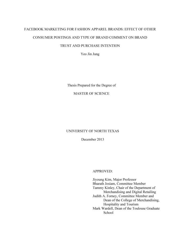 thesis statement restaurants