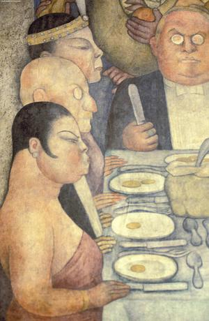 Primary view of object titled 'Capitalist Dinner, Court of the Fiestas, Corrido of the Agrarian Revolution'.