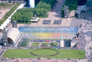 Primary view of object titled 'Agam Fountain, Paris, France'.