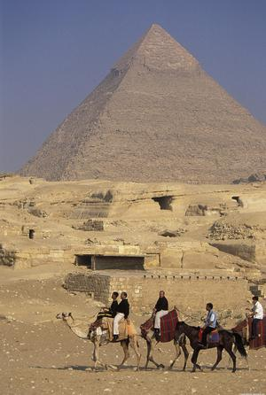 Primary view of object titled 'Pyramids of Giza (Gizeh), Khafre'.
