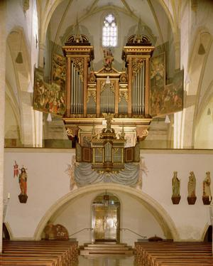 Primary view of object titled 'Organ in Church of St. Andreas, Linz, Austria'.