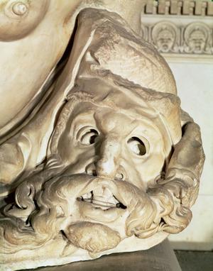 Primary view of Tragic Mask on the Tomb of Giuliano de Medici