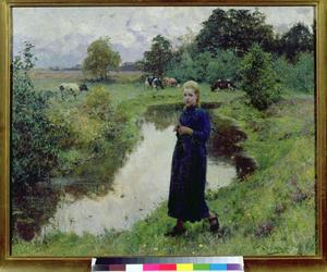 Young Girl in the Fields