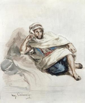 Primary view of object titled 'Seated Arab'.
