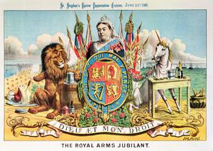 Primary view of object titled 'The Royal Arms Jubilant'.