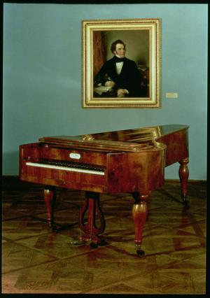 Primary view of object titled 'Piano Belonging to Franz Peter Schubert (1797-1828)'.