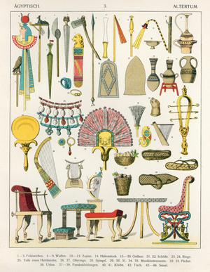 Primary view of object titled 'Egyptian Accessories'.