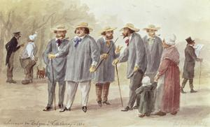 Primary view of object titled 'Balzac and Friends at the Ville d'Avray in 1840'.