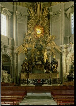 Primary view of object titled 'Chair of Saint Peter, St. Peter's Basilica, Rome'.