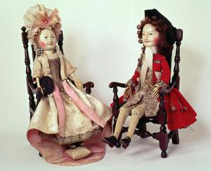 Primary view of object titled 'Lord and Lady Clapham Dolls'.