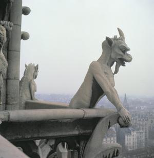Nineteenth-century Replica of Gargoyle on the Balustrade of the Grande Galerie, Notre Dame Cathedral