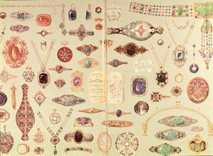Primary view of object titled 'Jewelry from the Tiffany Catalog'.