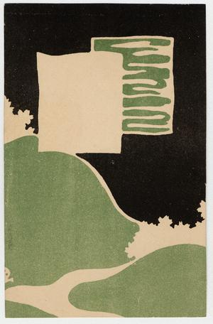 Primary view of object titled 'Landscape in Black and Green'.
