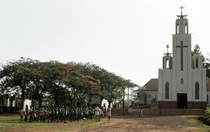Primary view of object titled 'Catholic Church in Techiman, Brong-Ahafo, Ghana'.