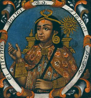 Primary view of object titled 'Atahualpa, Fourteenth Inca, One of Fourteen Portraits of Inca Kings'.