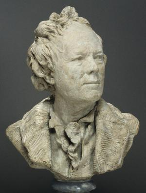 Primary view of object titled 'Bust of Christoph Willibald von Gluck'.