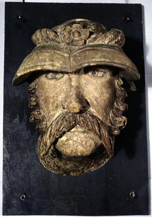 Primary view of Wawel Head: Warrior in Kapelin Helmet