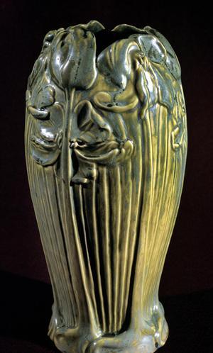 Primary view of [Vase with Iris Decoration]